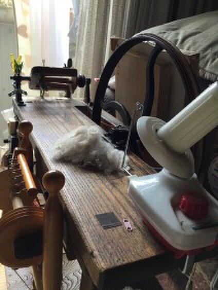 手紡ぎ毛糸ハギワラ
