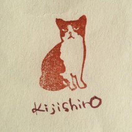 ネコ刺繍 kijishiro