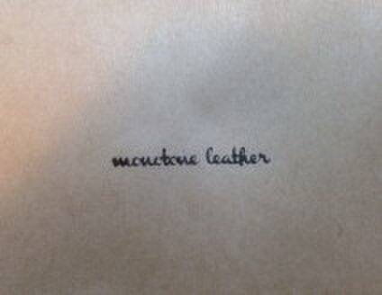 monotone leather