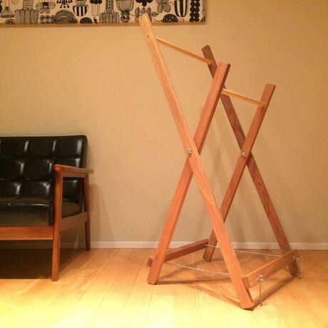 折りたたみクロスハンガー|物干し|ハンガーラックの画像