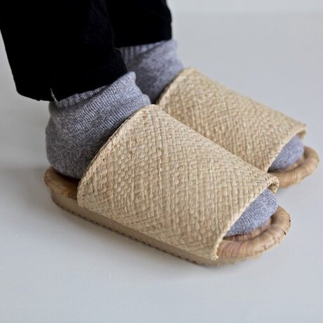 竹皮編みスリッパ(L size)の画像