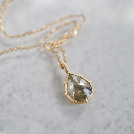 K18 Rose cut diamond pendant [OP701K18YG]の画像