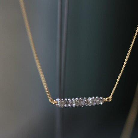 K18 ディスクダイヤモンド ネックレスの画像