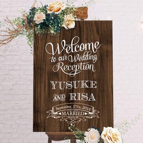 アメリカンヴィンテージウェルカムボード/結婚式ウェディングの画像