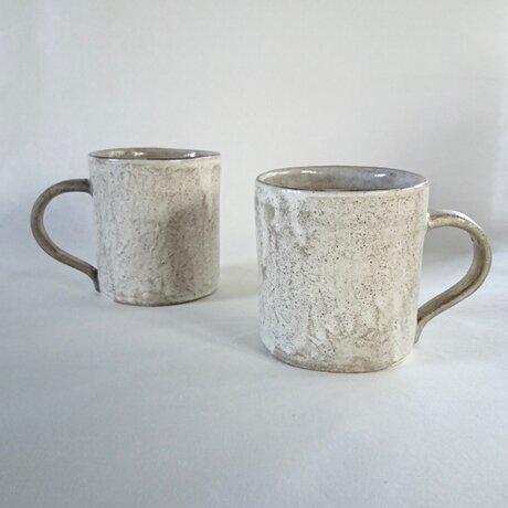 粉引銀彩マグカップの画像
