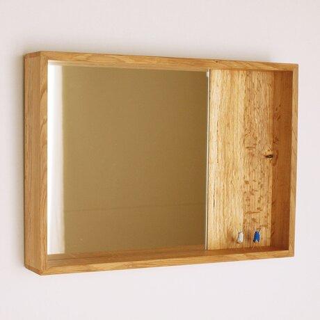 木製 箱鏡 楢材5の画像