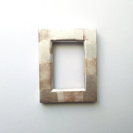 銀箔ミニフレームの画像