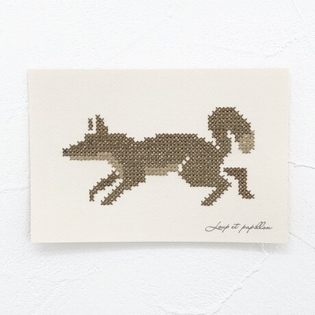 Small embroidery 小さな刺繍 Foxの画像
