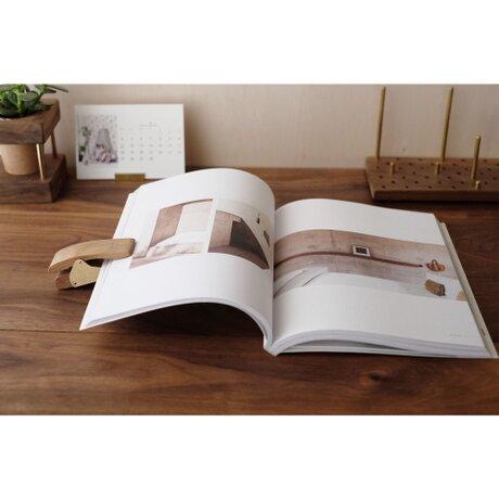 真鍮とウォールナットのブッククリップ No8の画像
