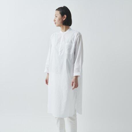 【sizeS再入荷】HANDROOM WOMEN'S クルタシャツ(ホワイト)の画像