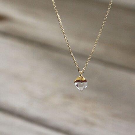Herkimer Diamonds Necklace w/ JapaneseLacquer, GoldLeafの画像