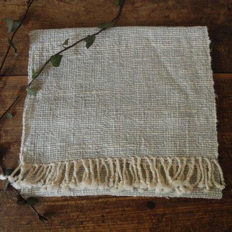 手織りフェイスタオル 『淡青』の画像