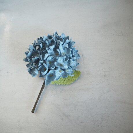 リネンのアジサイ(青)の画像