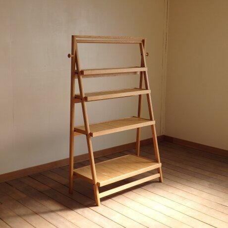 ナラの折り畳み棚 750 【試作版】の画像