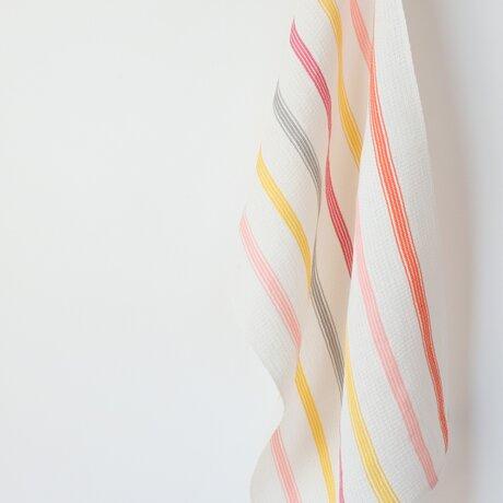 手織りリネンクロス【L-Stripe*01】の画像