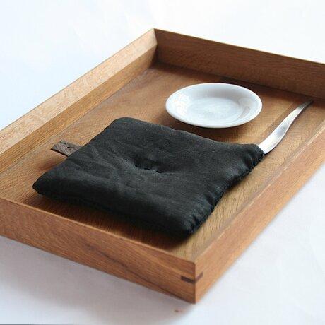 Pot Mat  [墨黒]リネンの画像