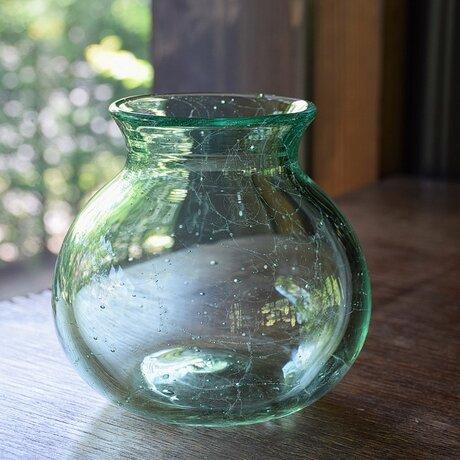 網泡花瓶<エメラルドグリーン>の画像