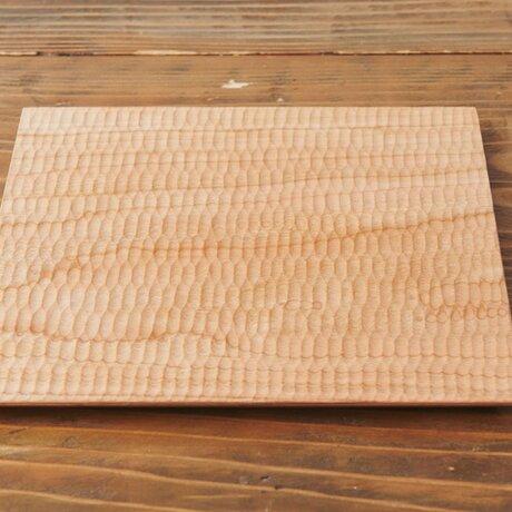 【受注製作】チェリーの大きなプレート皿 235×235(オイル・蜜蝋仕上げ)の画像