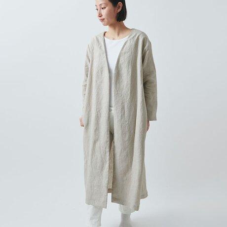 【受注生産】リネンの羽織コート(ladies freesize)の画像