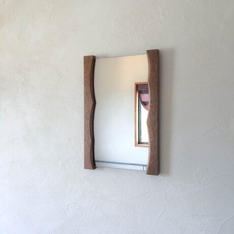 ゆらぎミラー L (ウォールミラー 木製 鏡 木枠 ミラー 姿見)の画像