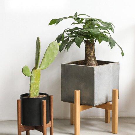 受注生産 職人手作り 北欧スタイル シンプル フラワーフレーム バルコニー 植物 ケヤキ材 無垢材 天然木 木目 エコの画像