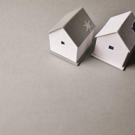 ハウス型ジュエリーボックスset❆青い鳥と雪の結晶❄の画像