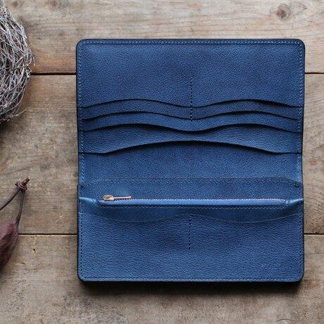 藍染革[shiboai] 長財布の画像