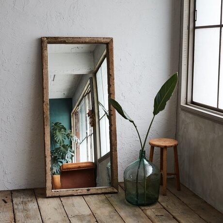 [造船古材] ミラー:Vintage Frame Mirror【受注生産】の画像