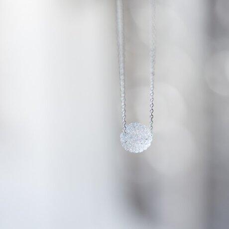 スノーボールネックレス クリアsサイズ (シルバー)の画像
