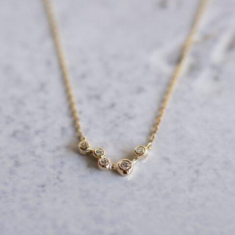 Stardust 5 atones necklace [P055K18YG]の画像