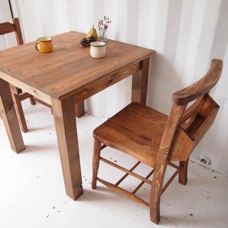カフェテーブル【800×800】(ダーク)の画像
