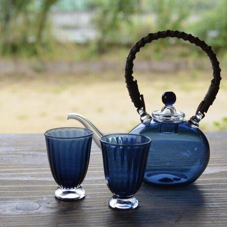 藍色のちろり(杯2客付)の画像