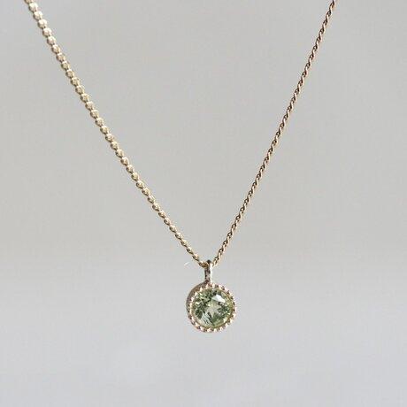 Peridot birthstone pendant [P033K10PE]の画像