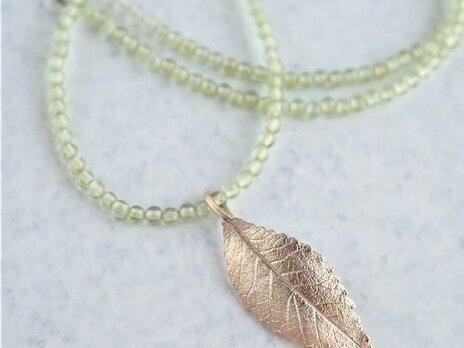 Elm leaf necklace{P082K10(NS)}の画像