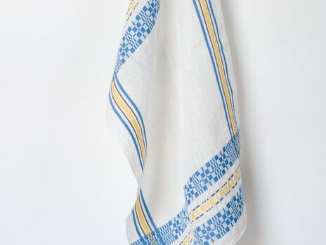 手織りリネンクロス【L-Munkabälte*01】の画像