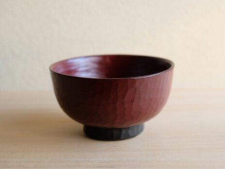 ねむの木・手削り汁椀 赤の画像