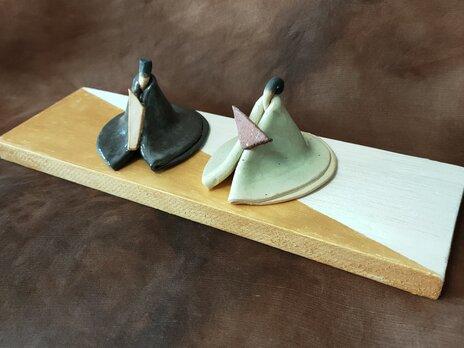 陶のミニ雛の画像