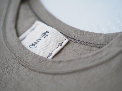 無添加ウールTシャツ(七分袖) シミーズラグラン ざくろ サイズ2 尾州 【糸と色】の画像