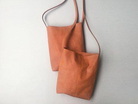 程よい袋 イタリアンレザー BROWN(牛革)の画像