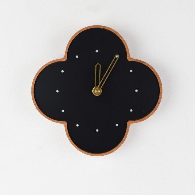 さくらの壁掛時計 黒の画像1枚目