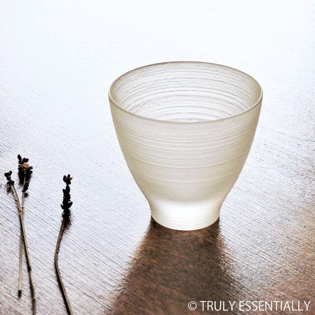 無色透明グラス -「 The Vessel of Light - 月明かりのうつわ」● 高さ6.5cmの画像1枚目
