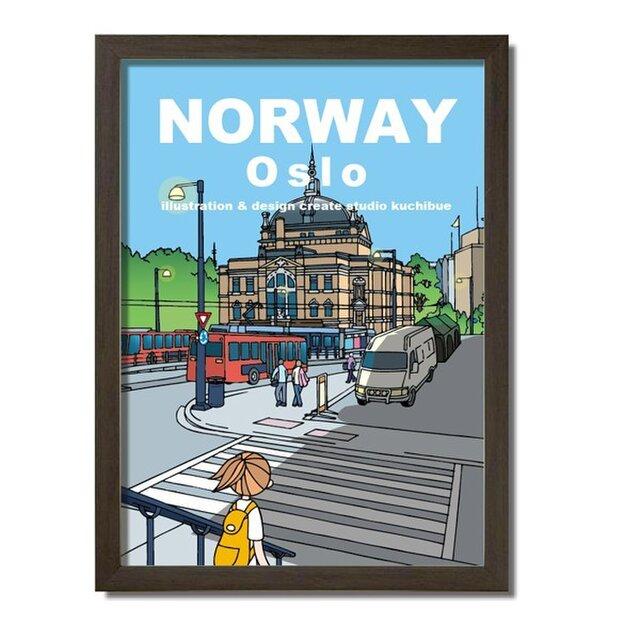 ポスターA3サイズ ノルウェー国立劇場(ノルウェー・オスロ)の画像1枚目