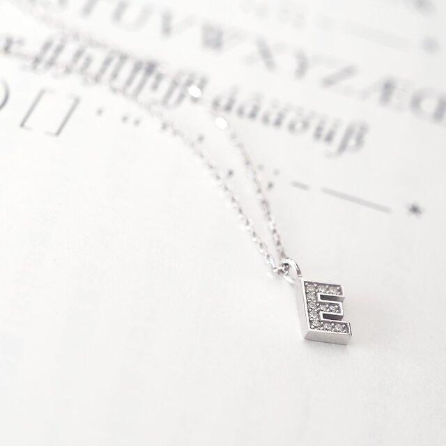 Initial E アルファベット ネックレス シルバー925の画像1枚目