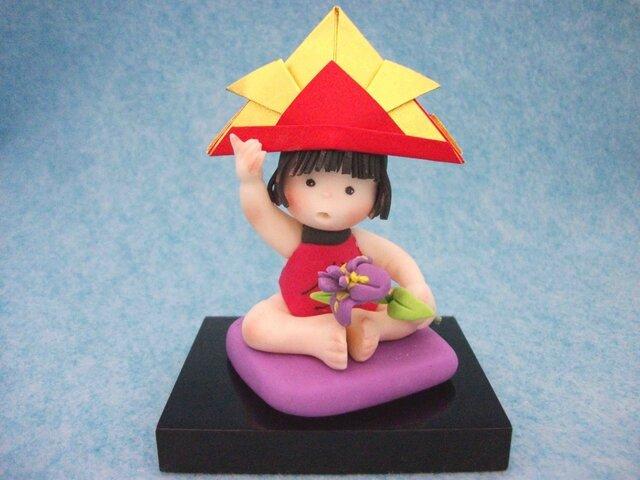 かわいい五月人形 金太郎(アヤメ)の画像1枚目