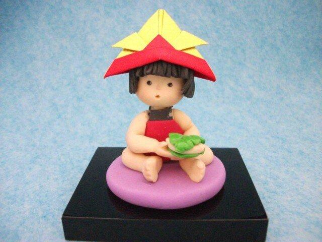 かわいい五月人形 金太郎(かしわ餅)の画像1枚目