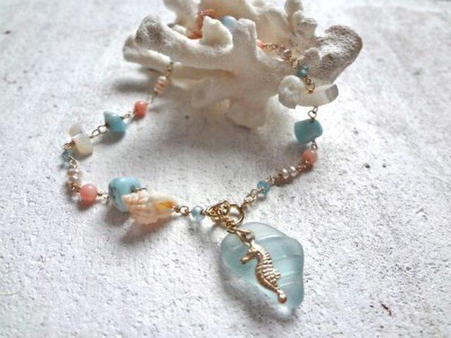 mermaid tears bracelet  人魚の涙のブレスの画像1枚目