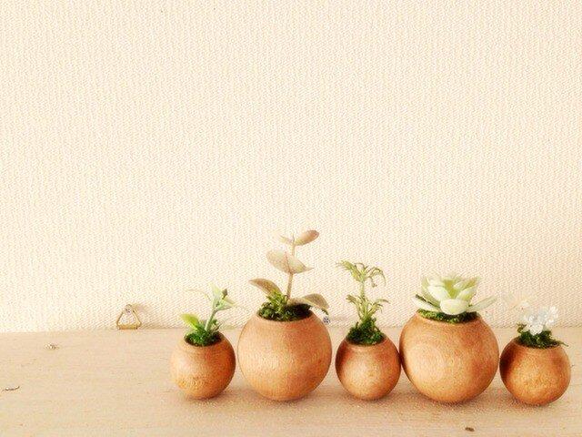 コロコロ植木鉢 茶の画像1枚目