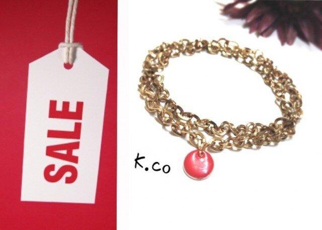 bracelet red 二重巻きの画像1枚目