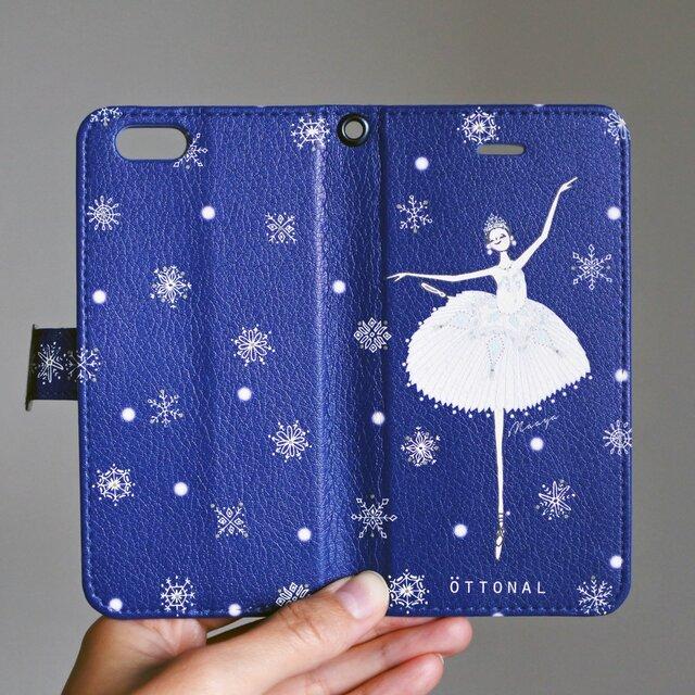 (Android) 雪の女王 手帳型スマホケースの画像1枚目