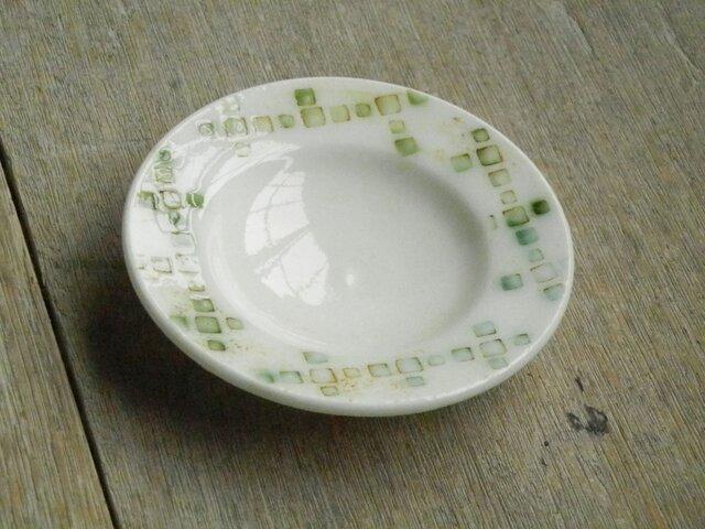 豆皿 緑釉象嵌の画像1枚目